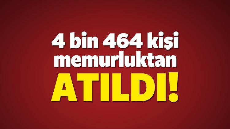 Memurluktan ihraç edilen 4 bin 464 kişinin isimleri belli oldu!