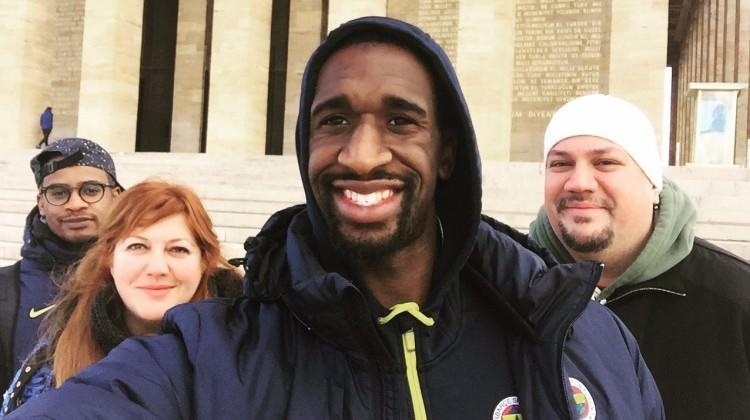 Ekpe Udoh, Anıtkabir'i ziyaret etti