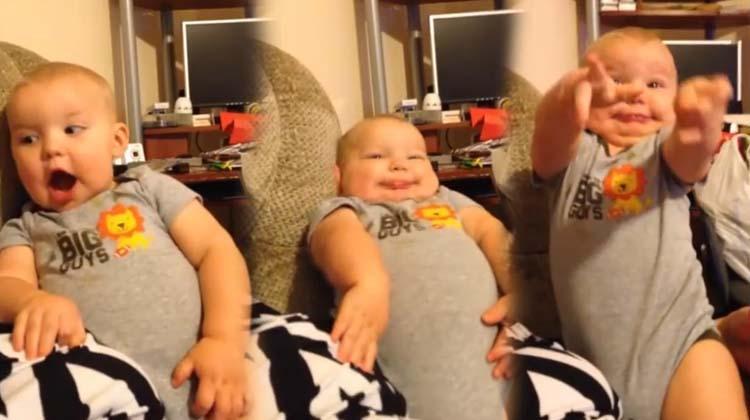 Doğuştan komedyen bebek kahkahaya boğuyor