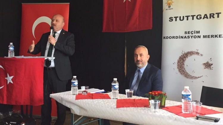 AK Partili vekil Almanya'nın Yasağını Dinlemedi
