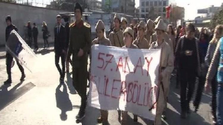 Ülkücülerden '57. Alay İstanbul yürüyüşü'