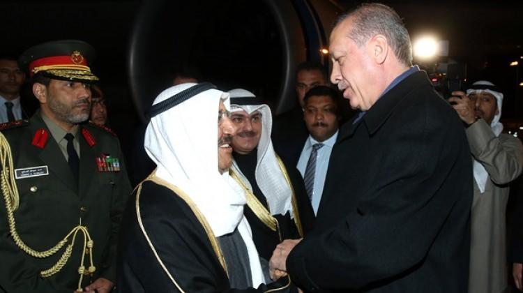 Erdoğan bizzat karşıladı! Kuveyt emiri Ankara'da
