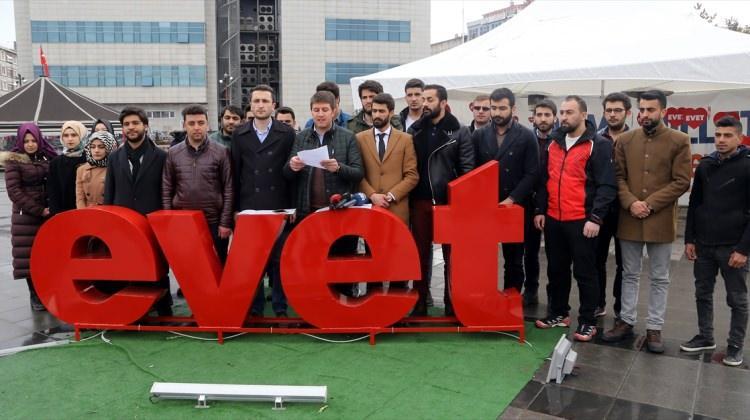 """Erzurum'da 14 STK """"evet"""" diyecek"""