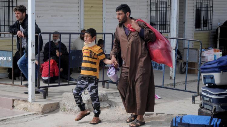 Suriyeli aileler  Bab'a geri döndü