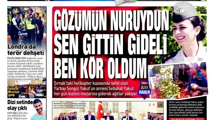 5 Haziran Pazartesi gazete manşetleri
