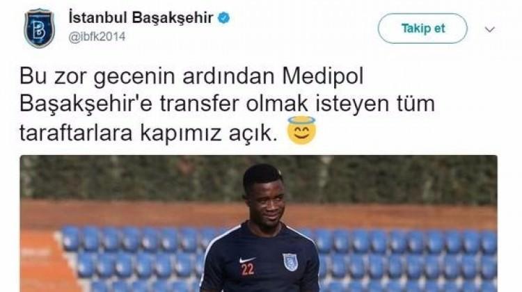 Olay olan tweet için Başakşehir'den açıklama