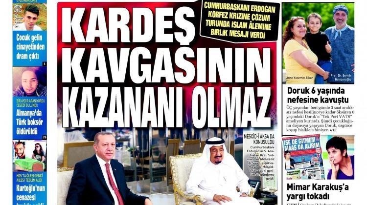 24 Temmuz Pazartesi gazete manşetleri