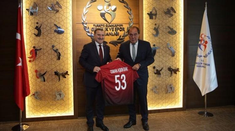 TFF'den Gençlik ve Spor Bakanı Bak'a ziyaret