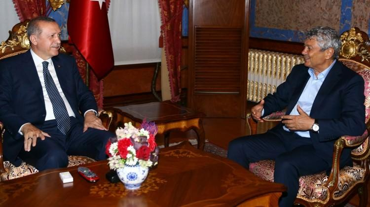Erdoğan futbolun zirvesini ağırladı