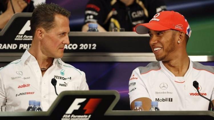 Hamilton, efsane Schumacher'i yakaladı!