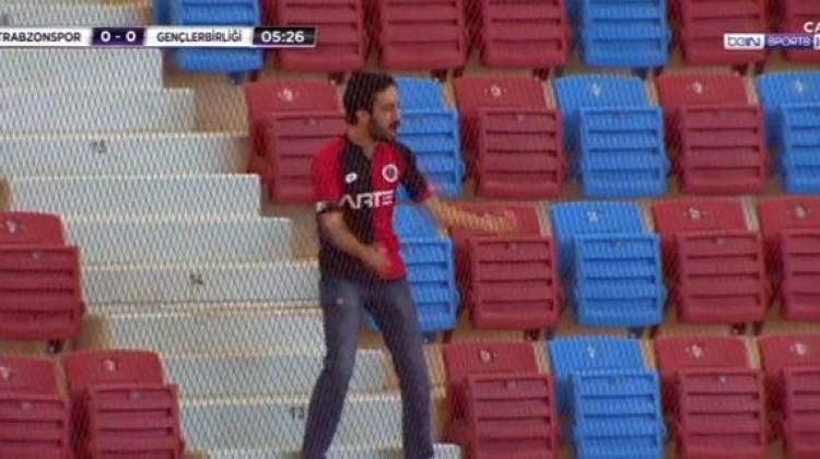 Trabzon'daki maça damga vuran görüntü