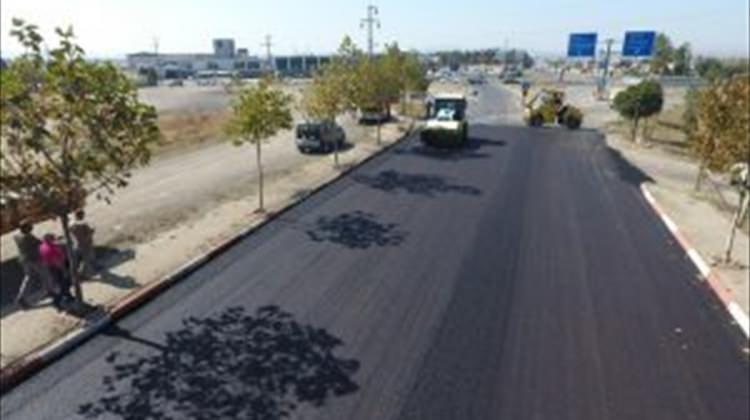Keşan'daki asfaltlama çalışması