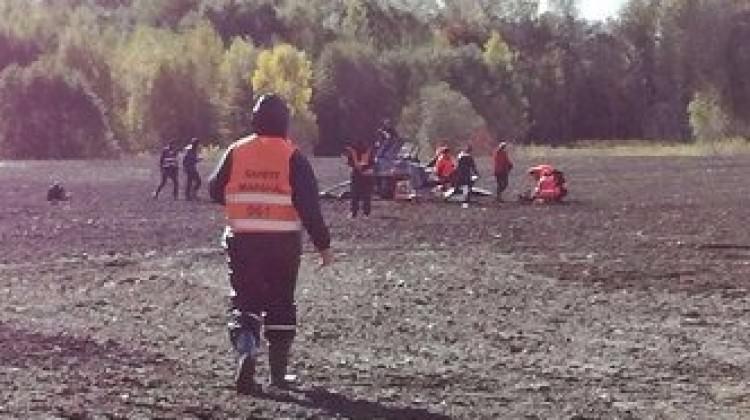 Türk takımının katıldığı yarışta helikopter düştü!