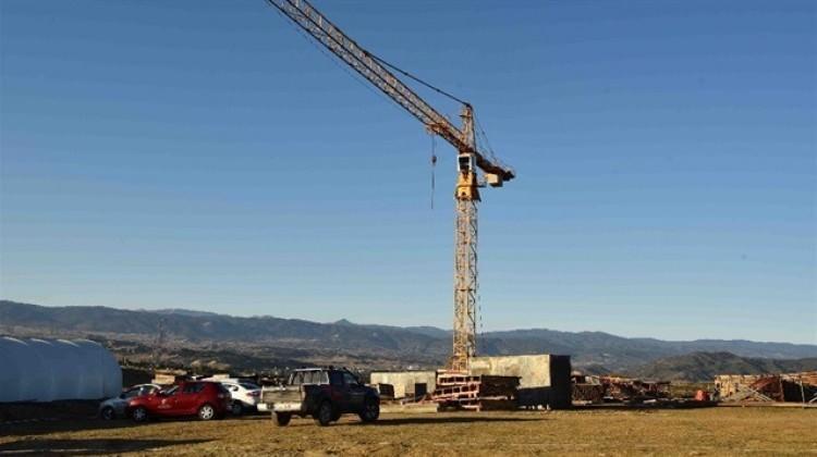 310 konutluk TOKİ inşaatının şantiyesi kuruldu