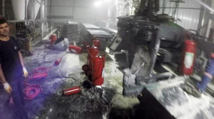 Alüminyum fabrikasında yangın
