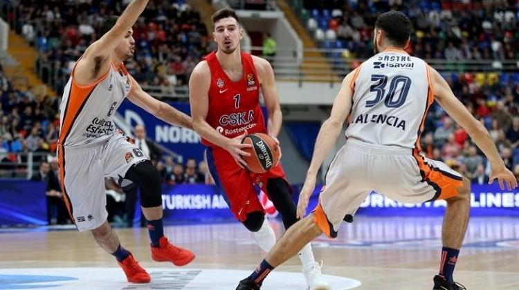 Euroleague'in yeni lideri CSKA Moskova!