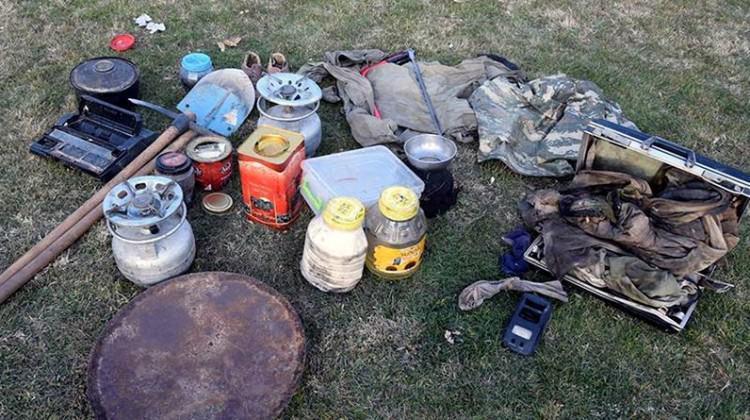 Terör operasyonunda patlayıcılar bulundu