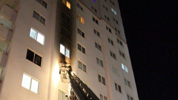 14 katlı binada yangın dehşeti