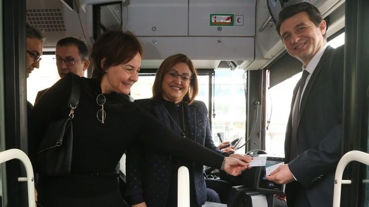 Gaziantep'te Kreti kartıyla yolculuk dönemi
