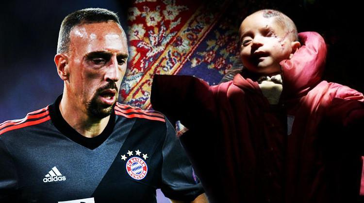 Ribery gönülleri fethetti! Kerim bebeği...