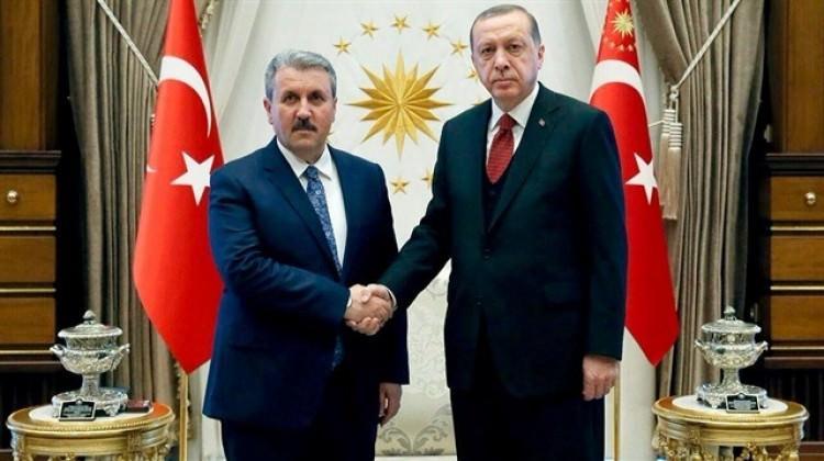 Cumhurbaşkanı Erdoğan, Destici'yi kabul etti