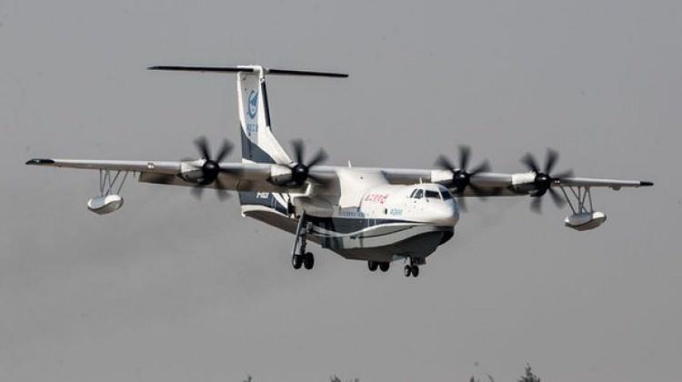 Dünyanın en büyük uçağı AG600 görücüye çıktı