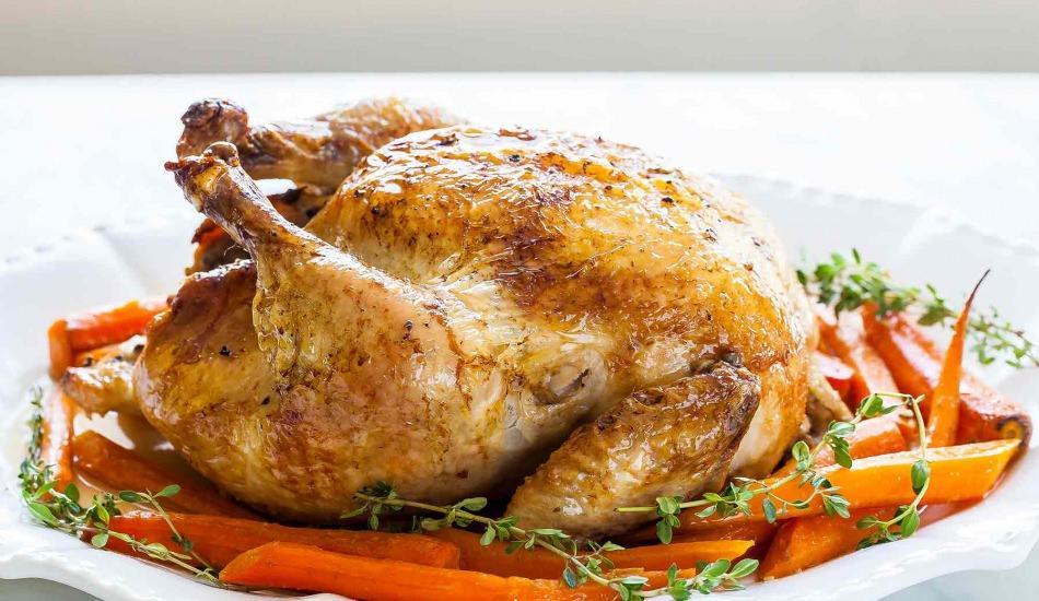 Enfes fırında bütün tavuk tarifi