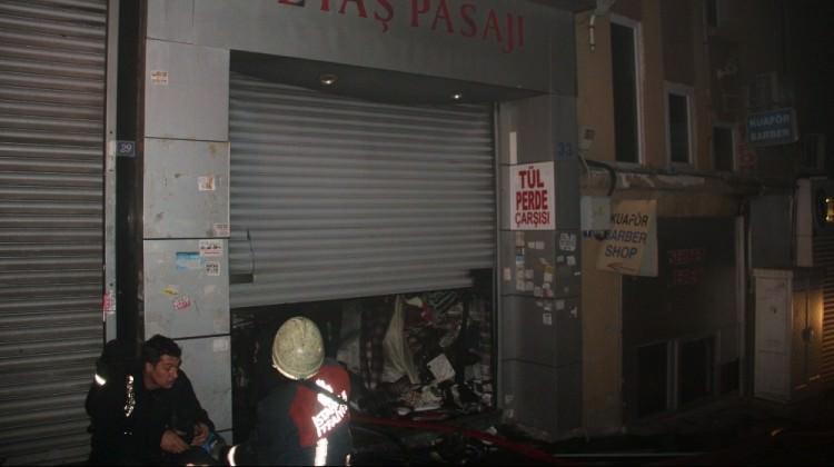 Fatih'te yangın paniği!