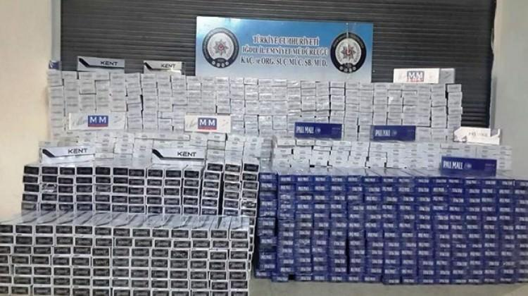 Iğdır'da kaçak sigara operasyonu