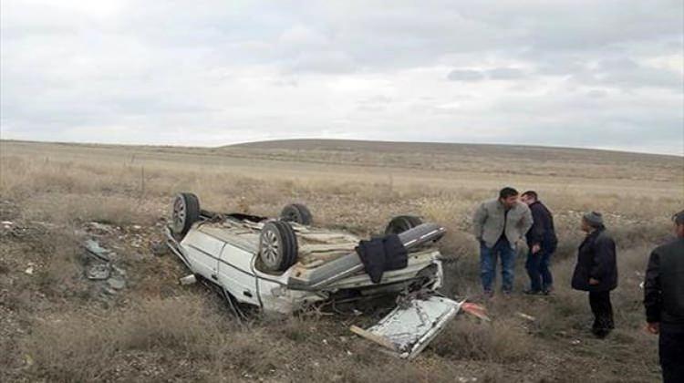 Otomobil takla attı: 7 yaralı