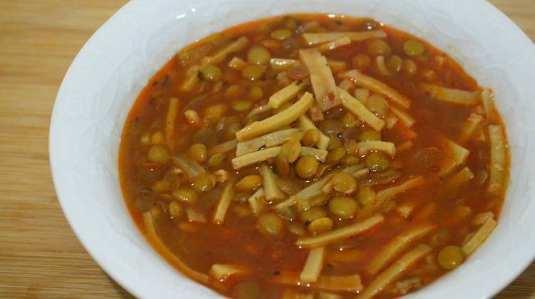 Yeşil mercimekli kış çorbası tarifi
