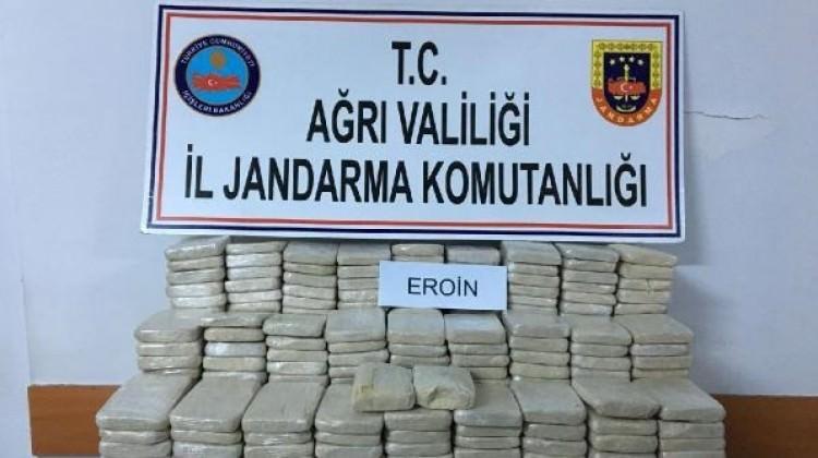 Ağrı'da 212 kilo eroin ele geçirildi