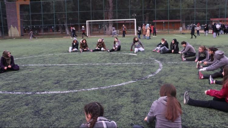 Eyüpsultanlı kız öğrencilerin Kış Kampı sona erdi