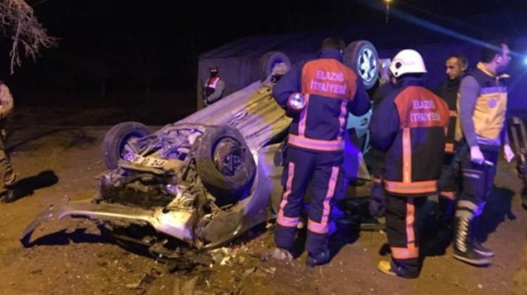Polislerin bulunduğu araç takla attı: Şehit var