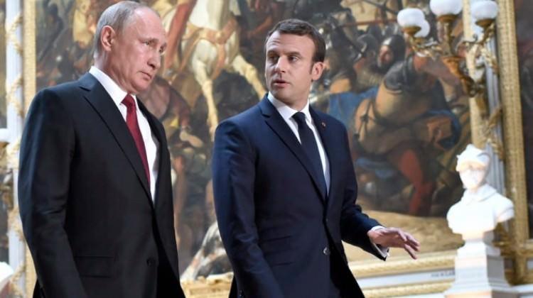 Putin ve Macron Suriye hakkında görüştü