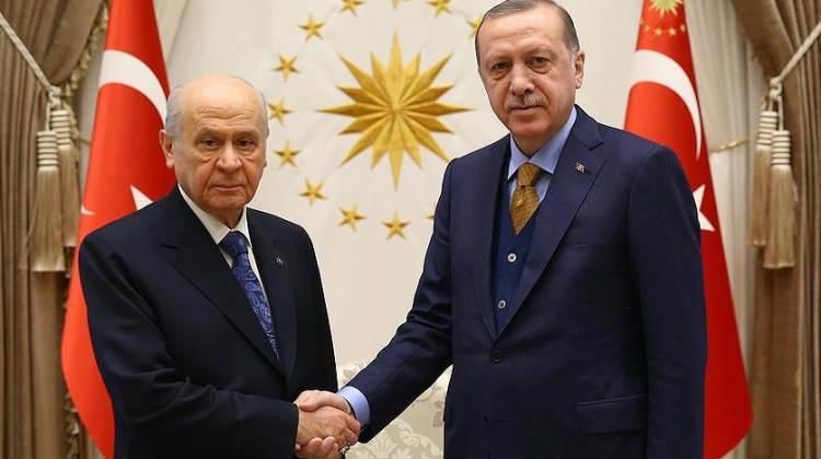 Cumhurbaşkanı Erdoğan, Bahçeli ile görüştü