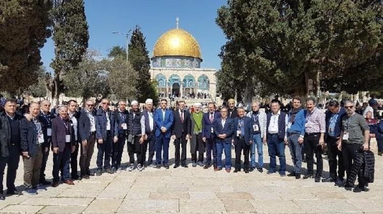 İBB heyeti Filistin'e destek için Kudüs'te