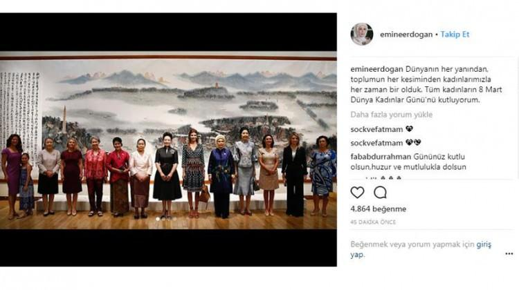 Emine Erdoğan ilk Instagram paylaşımını yaptı