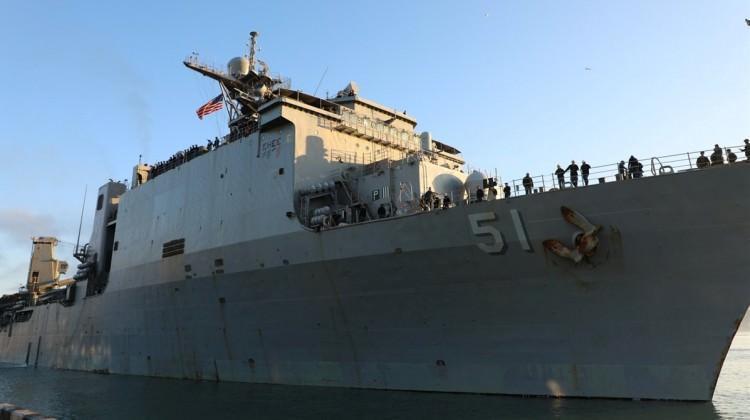 ABD savaş gemisi Gürcistan'da!