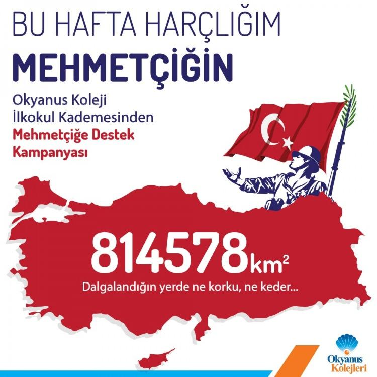'Bu hafta harçlığım Mehmetçiğin'