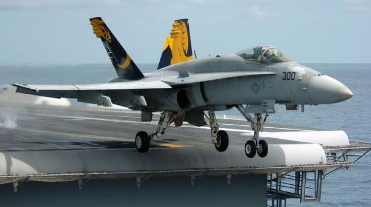 ABD'de savaş uçağı denize düştü