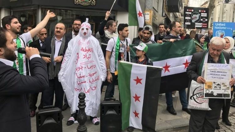 İran Konsolosluğu önünde Guta protestosu