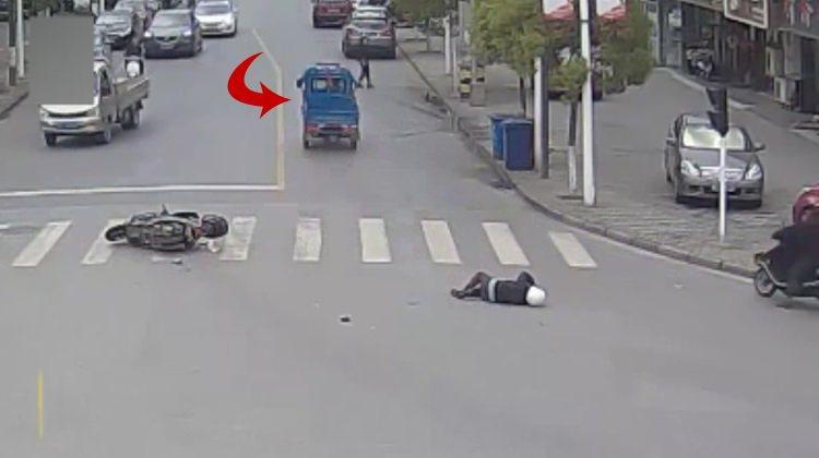Motosikletliye çarpıp kaçmaya kalkışınca...