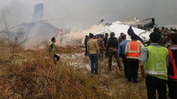 Nepal'de yolcu uçağı düştü!