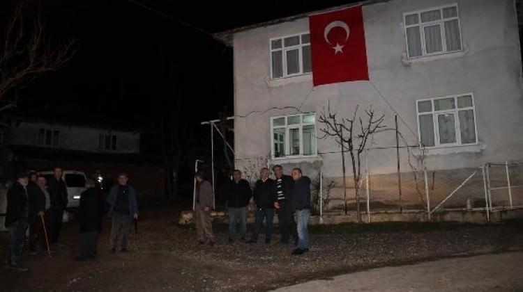 Şehidin haberi Amasya'ya ulaştı