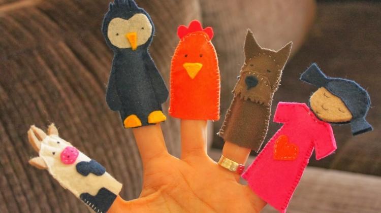 Çocuklar için parmak kukla yapımı