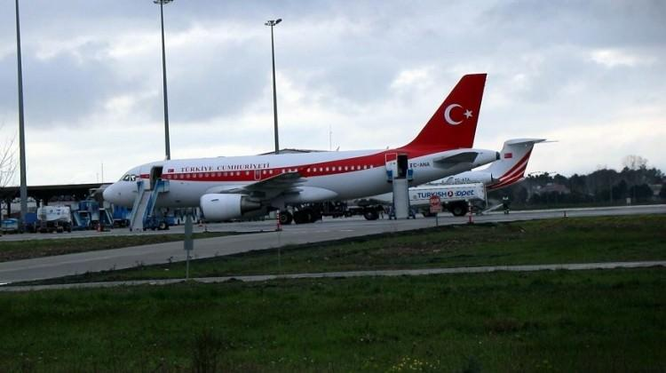 Erdoğan'ın uçağı havalimanına inemedi