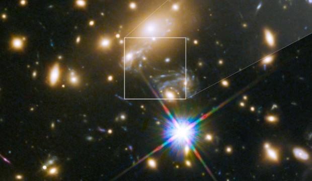 Tesadüfen ortaya çıktı, Hubble'dan kaçmadı
