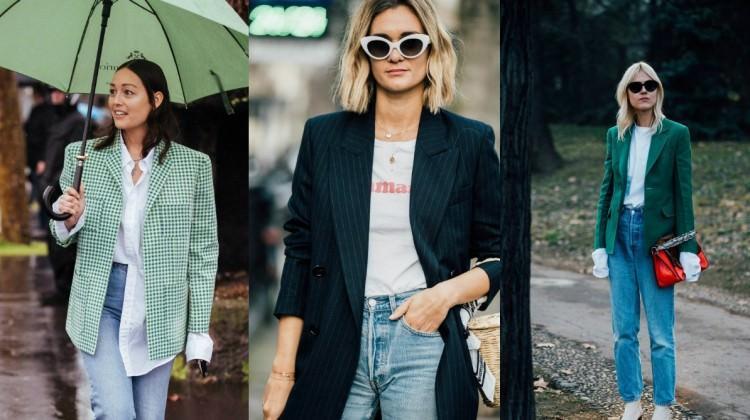 d1ce9ef61a4b6 Blazer ceket ve denim modası kombin önerileri - Moda Haberleri