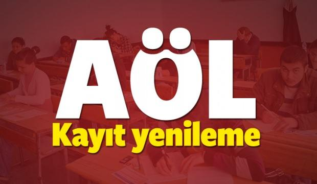 AÖL (Açıköğretim Lisesi) 3.dönem kayıt yenileme tarihi! 2018
